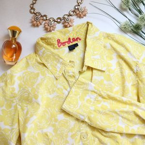 Boden Bright Floral Collared Button Up Shirt 14